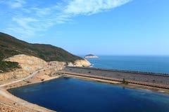 Hong Kong Geo Park. High Island Reservoir in Hong Kong Geo Park stock photography