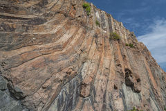 Hong Kong Geographical Park. The force of nature, folding and natural hexagonal column royalty free stock images