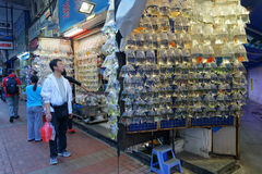 Hong Kong Gold fish market in Tung Choi street Stock Photography