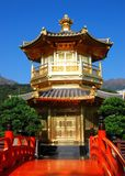 Hong Kong:  Golden Pavilion at Nan Lian Garden Stock Photos