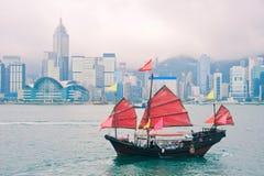 Hong Kong gränsmärken royaltyfri fotografi