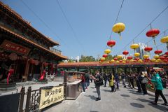 hong kong grzechu tai świątyni wong Obraz Stock