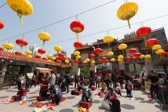 hong kong grzechu tai świątyni wong Zdjęcia Stock