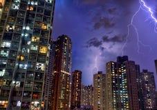 Hong Kong grzmotu światło Zdjęcie Royalty Free