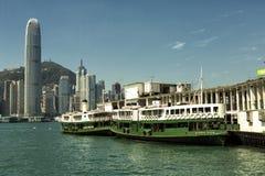 Hong Kong gwiazdy promu terminal Obraz Royalty Free