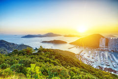 Hong Kong härlig solnedgång Royaltyfria Foton
