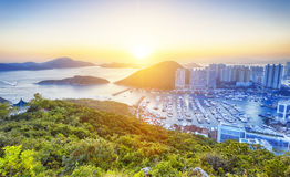 Hong Kong härlig solnedgång Royaltyfria Bilder
