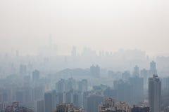 Hong Kong högväxta byggnader i ogenomskinlighet royaltyfria foton