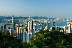 Hong Kong habour. From the top of victorai point Royalty Free Stock Photos