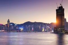Hong kong habour sunset Stock Images
