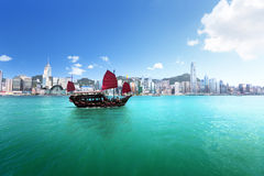Hong Kong-Hafen stockfoto