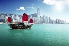 Hong Kong-Hafen Stockbilder