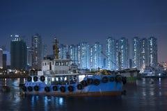 Hong Kong hamn Fotografering för Bildbyråer