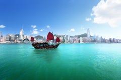 Hong Kong hamn arkivfoto