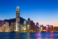 Hong Kong hamn arkivbilder