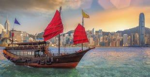 Hong Kong hamn Royaltyfri Foto