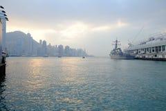 Hong Kong hamn Royaltyfria Foton