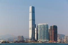 Hong Kong handlu Centre Międzynarodowa linia horyzontu podczas dnia zdjęcia royalty free
