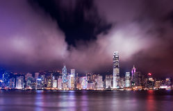 Hong Kong Harbor. Hong kong victoria harbor at night stock images
