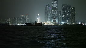Hong Kong Harbor stock video footage