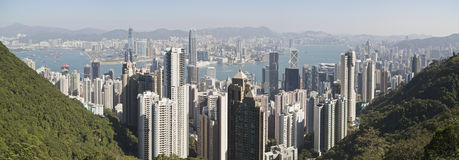 Hong Kong Harbor Day Scene Stock Photos