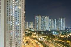 Hong Kong Harbor en la noche Imágenes de archivo libres de regalías