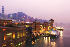 Hong Kong harbor ferry Royalty Free Stock Photography