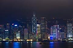 Hong Kong Harbor Laser Show Photo libre de droits