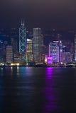 Hong Kong Harbor Laser Show Photographie stock libre de droits