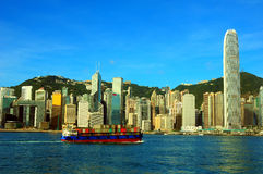 Hong Kong harbor view Stock Images