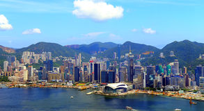 Hong kong harbor view Royalty Free Stock Images