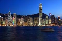 Hong Kong harbor view at dusk Royalty Free Stock Photography
