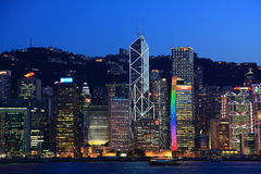 Hong Kong harbor view at dusk Stock Image