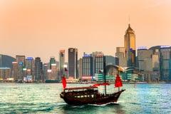 Hong Kong Harbour. Arkivbilder