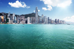 Hong Kong harbour Stock Photos