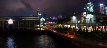 Hong kong harbour and Night Time Royalty Free Stock Images