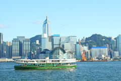 Hong Kong harbour and star ferry Royalty Free Stock Image