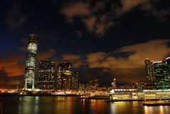 Hong Kong harbour view. Hong Kong harbour night view Stock Images