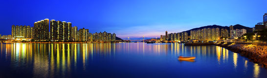 Hong Kong-havenmening royalty-vrije stock fotografie