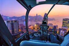 Hong Kong Helicopter Royaltyfria Foton