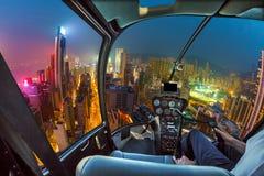 Hong Kong Helicopter Royalty Free Stock Photo