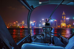 Hong Kong Helicopter panorama Stock Photo