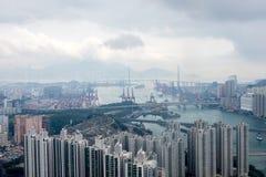Hong Kong high rise view Royalty Free Stock Photos