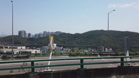 Hong Kong highway and harbour