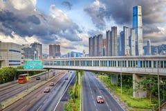 Hong Kong Highway Traffic Stock Photos