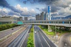 Hong Kong Highway Traffic Stock Images