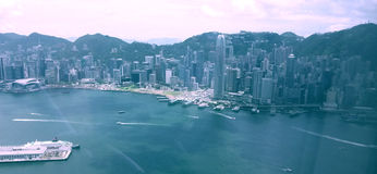 Hong Kong himmelbyggnader Arkivbild