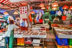 Hong Kong Historic Landmark: Graham Street Wet Market Imágenes de archivo libres de regalías
