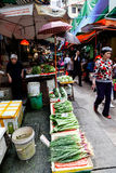 Hong Kong Historic Landmark: Graham Street Wet Market Fotografía de archivo libre de regalías