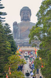 HONG KONG,HONG KONG - December 8, 2013:Tian Tan Giant Buddha from Po Lin Monastery, Lantau Island in Hong Kong Stock Photo